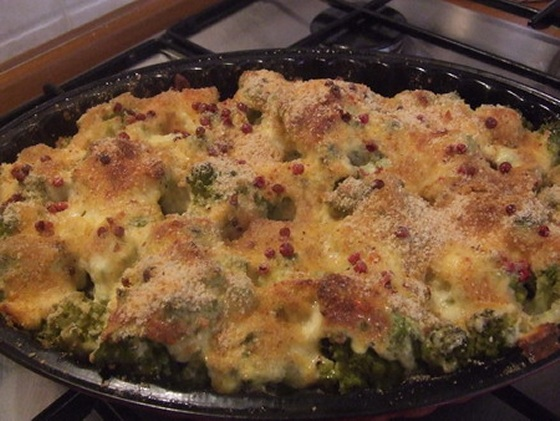 Budinca coapta de broccolo romano