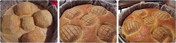 tarta de mere coapta in forma rotunda
