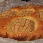 detaliu tarta alpina de mere