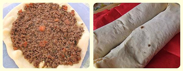 Lahmacun - piadine turcesti picante