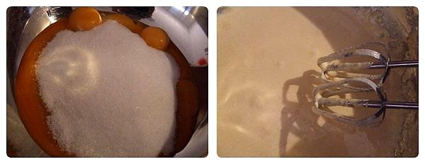 Prajitura cu Capsuni - galbenusuri cu zahar
