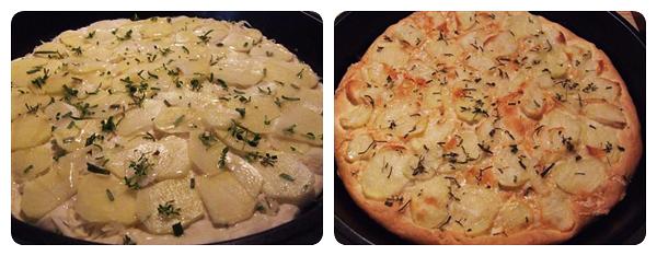 Pizza Bianca - Pizza cu cartofi