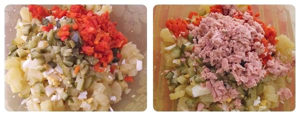 Salata de cartofi ingrediente tocate