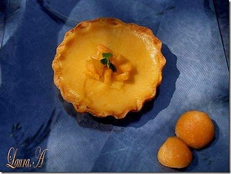 Minitarte cu crema de pepene galben
