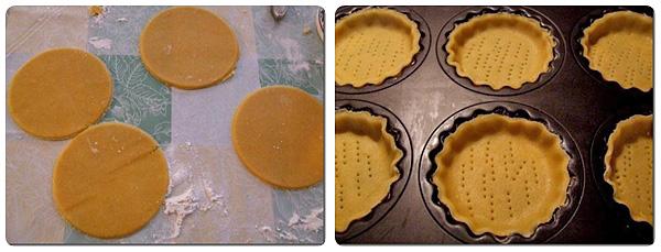 Minitarte cu crema de pepene