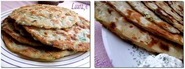 Detaliu scallion pancake