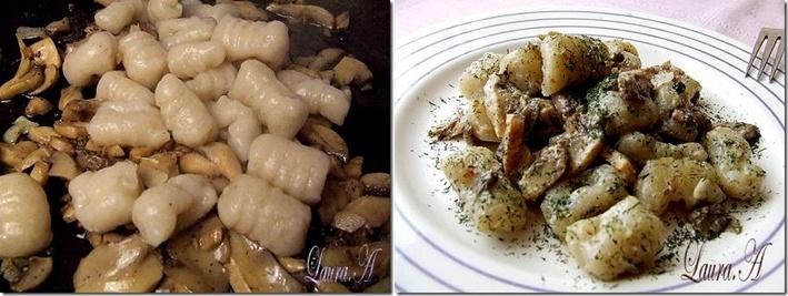 Gnocchi fara cartofi (de post) detaliu