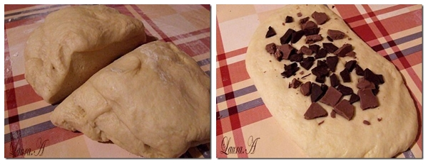 Cozonac umplut cu ciocolata - forma cozonac