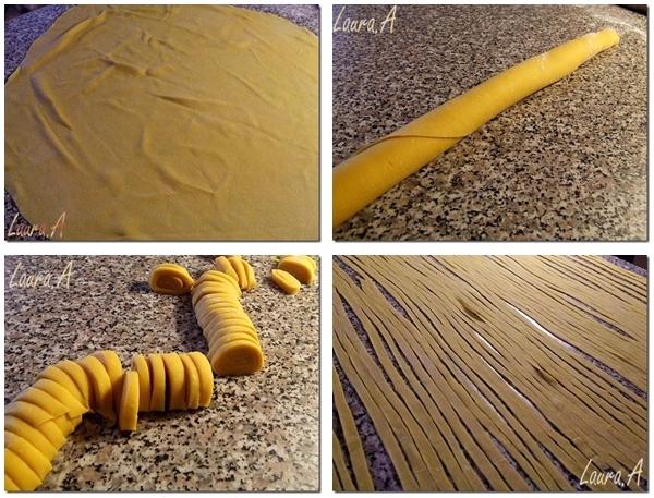 Preparare Aluat paste tagliatelle de casa
