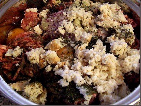 Amestec carne chiftelute marinate