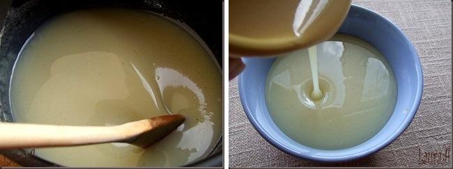 Detaliu lapte condensat de casa