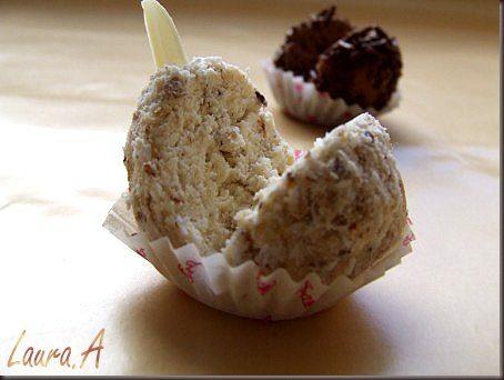 Trufe de ciocolata detaliu trufa