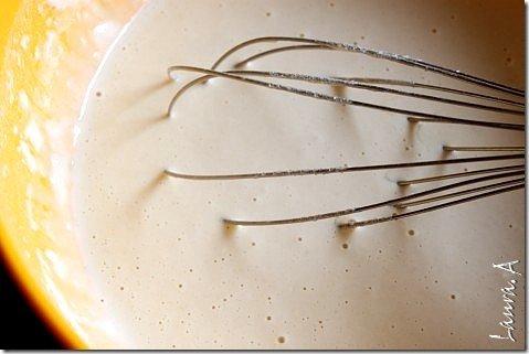 Clatite cu drojdie - preparare aluat
