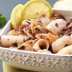 Calamari cu lamaie si usturoi