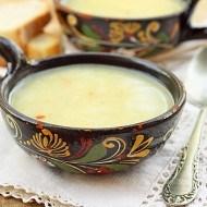 Supa cu taitei de cartofi si tarhon