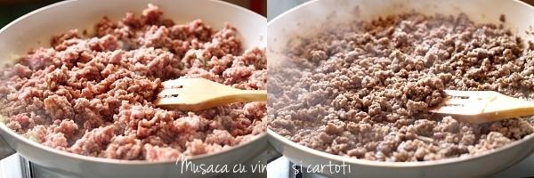 Carne tocata pentru musaca