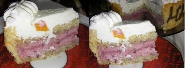 Tort aniversar cu mousse de visine si crema de iaurt - Reteta propusa de Mihaela Ursu