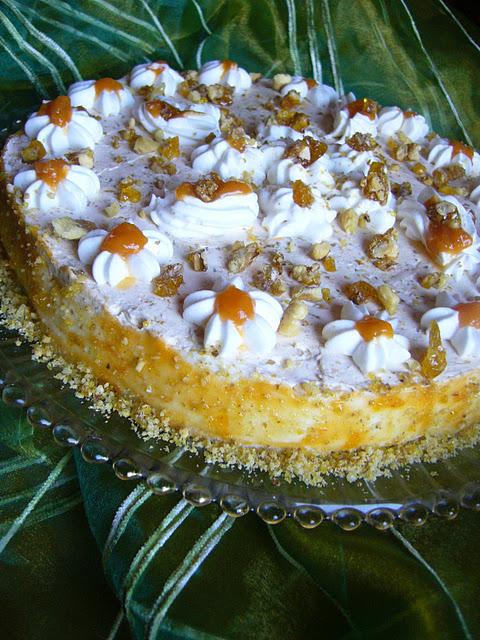 Tort cu pere si crema de branza cu vanilie - Reteta propusa de Adela's Cake