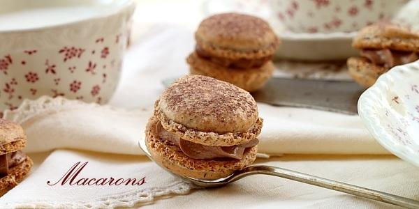 Macarons cu ciocolata - detaliu