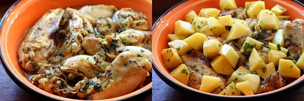 Tajine de pui si cartofi - preparare