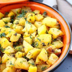 Tajine de pui cu cartofi