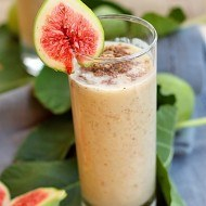 Smoothie de smochine cu seminte de in
