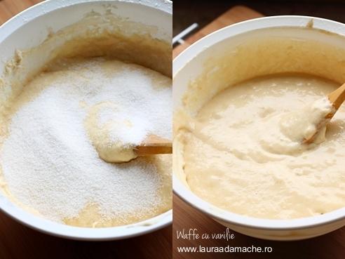 Waffe cu vanilie - preparare aluat 2