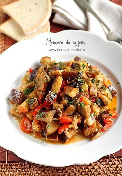 Mancare de legume cu sos de soia