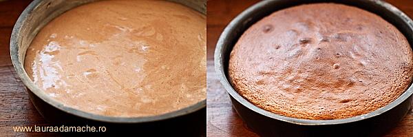 Tort cu Inimi de ciocolata - preparare blat
