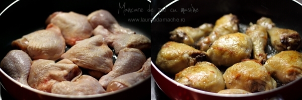 Pulpe de pui pentru mancare cu masline