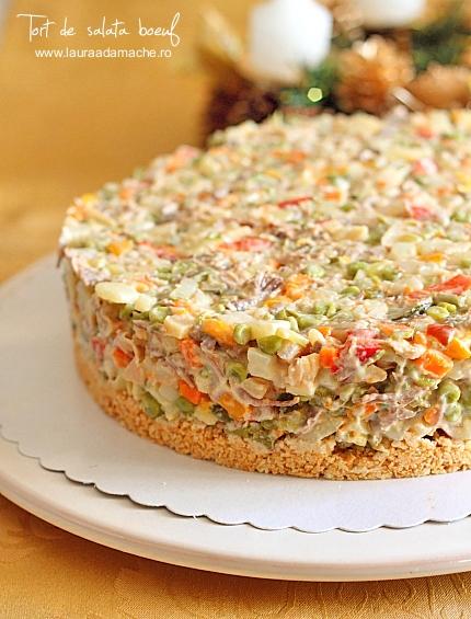 Tort de salata boeuf preparare