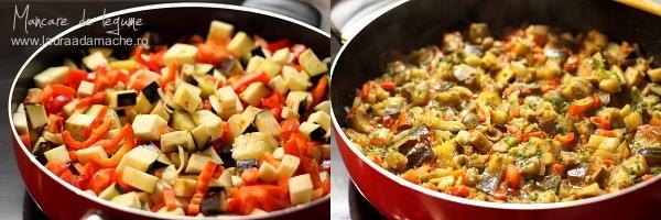 Mancare de legume cu sos de soia - preparare