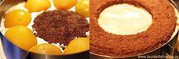 Tort Inimi de ciocolata asamblare tort