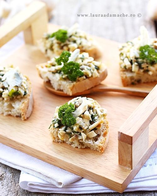 Salata dietetica de ciuperci - detaliu final