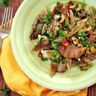 Salata picanta cu ciuperci pleurotus