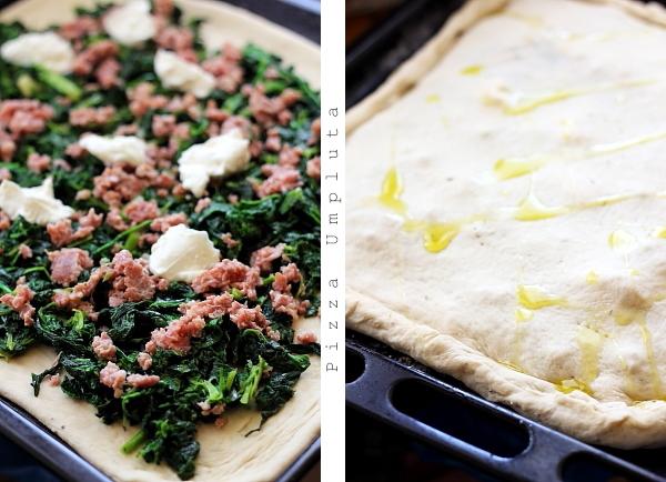 Pizza umpluta cu spanac - pizza umpluta