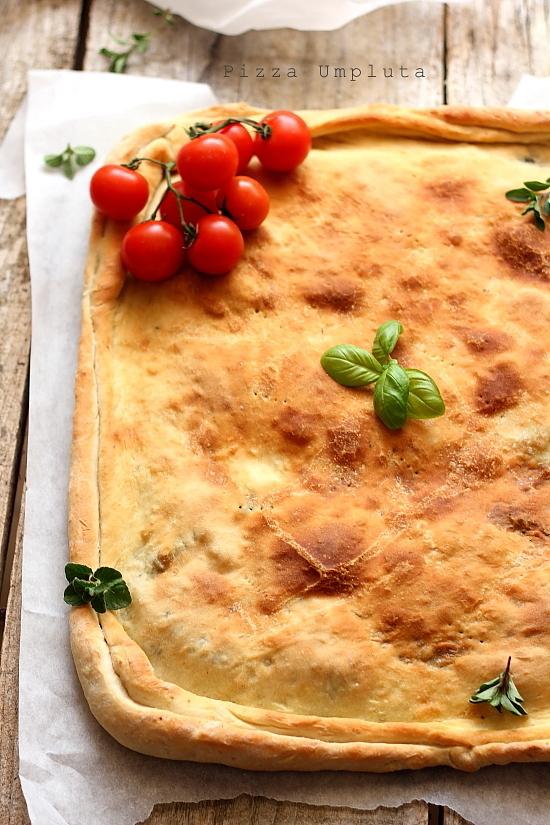 Pizza umpluta cu spanac - Retete culinare aperitive, pizza, focaccia
