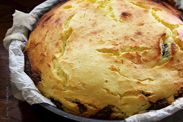 Tarta cu crema de branza si mac - tarta coapta