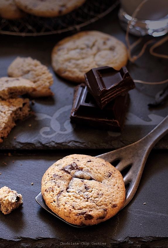 Biscuiti cu ciocolata - detaliu biscuiti