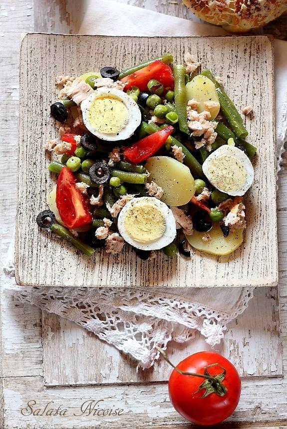 salata nicoise, salata frantuzeasca cu legume