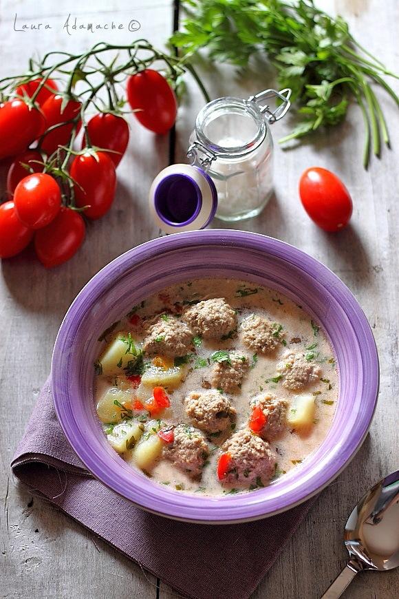 Ciorba de perisoare - retete culinare Laura Adamache
