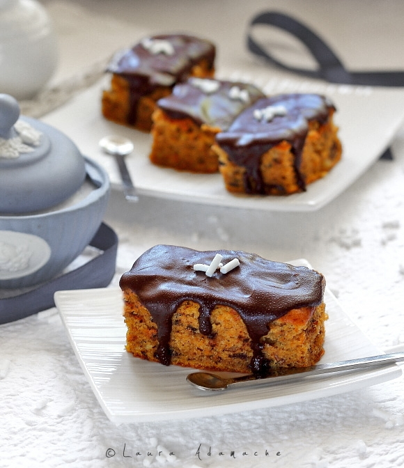 Prajitura cu dovleac si ciocolata - detaliu
