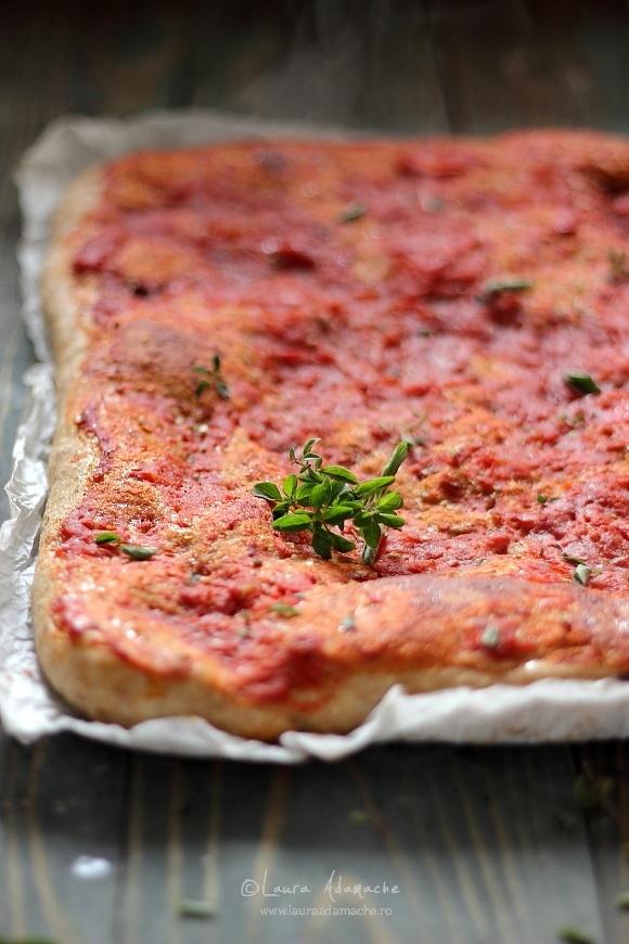 Pizza cu faina integrala