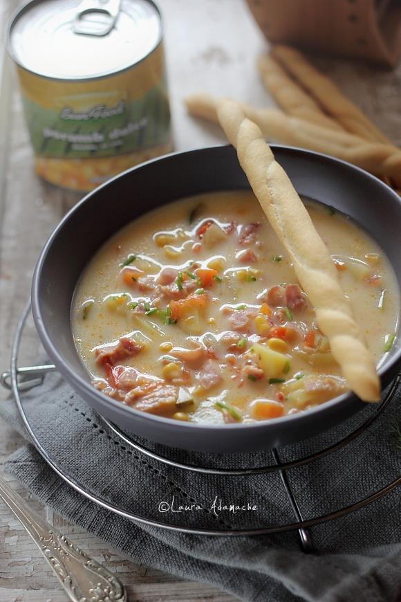 Supa de Porumb si Dovlecei