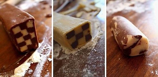 Biscuiti bicolori - asamblare