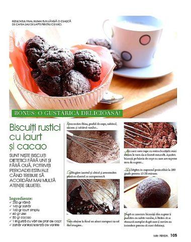 Biscuiti rustici cu iaurt si cacao
