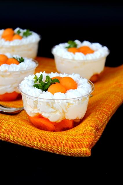 Crema de iaurt cu pepene galben