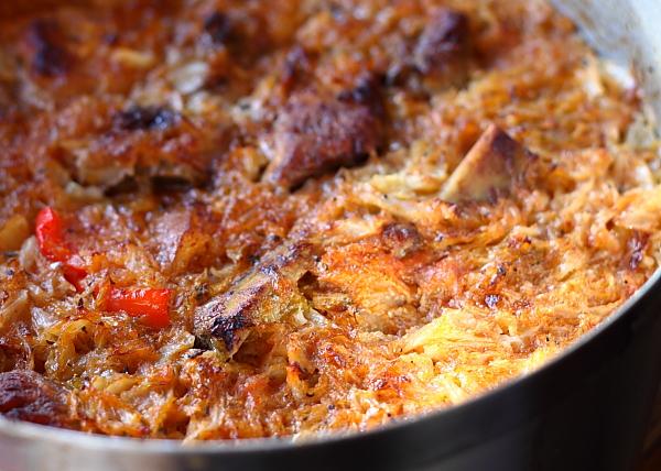 Mancare de varza cu carne la cuptor