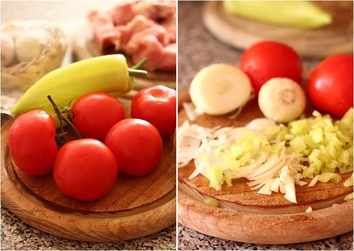 Papricas de porc - legume curatate si tocate