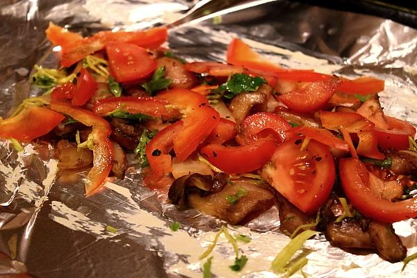 Pastrav la cuptor cu legume